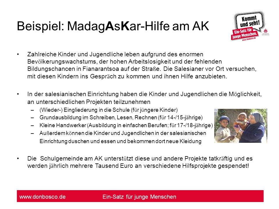 Beispiel: MadagAsKar-Hilfe am AK