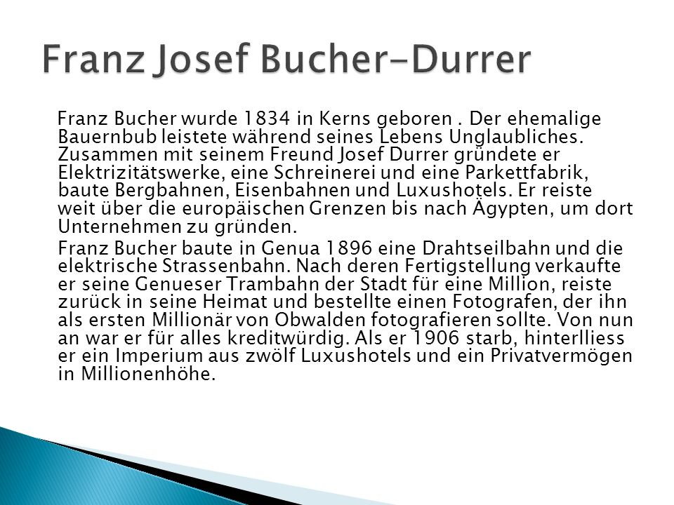 Franz Josef Bucher-Durrer