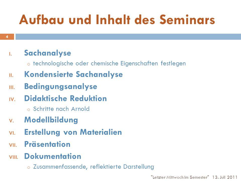 Aufbau und Inhalt des Seminars