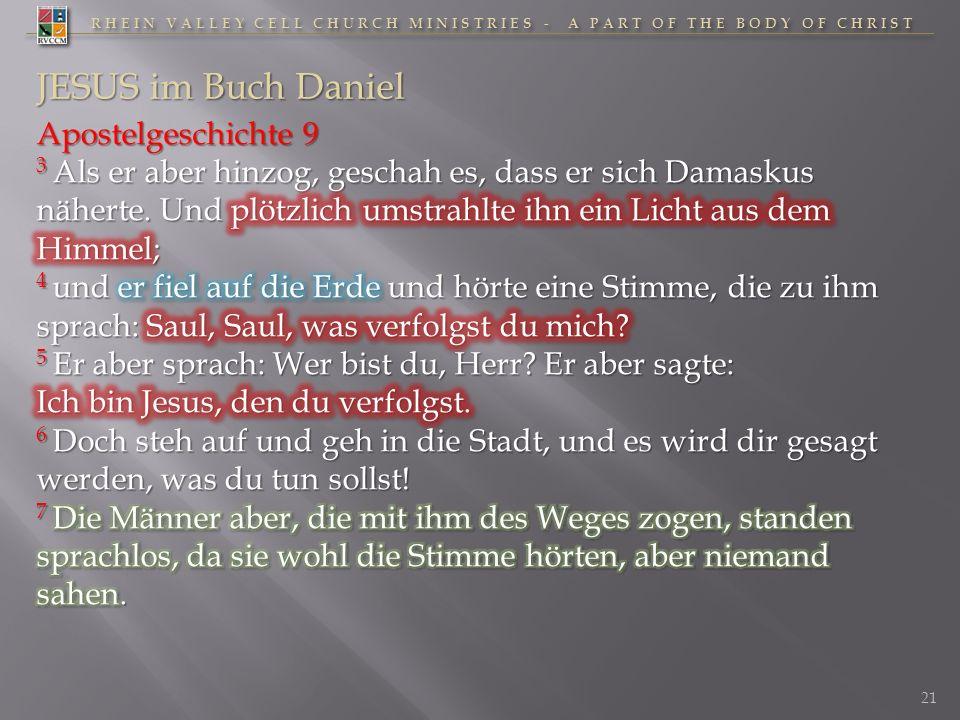 JESUS im Buch Daniel Apostelgeschichte 9