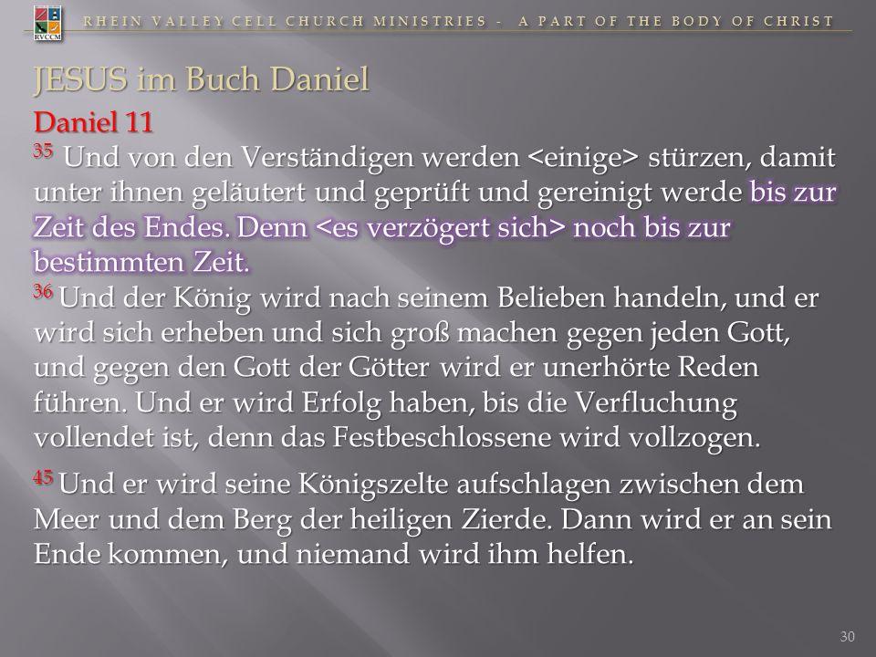 JESUS im Buch Daniel Daniel 11