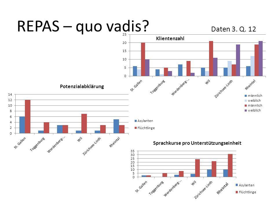 REPAS – quo vadis Daten 3. Q. 12