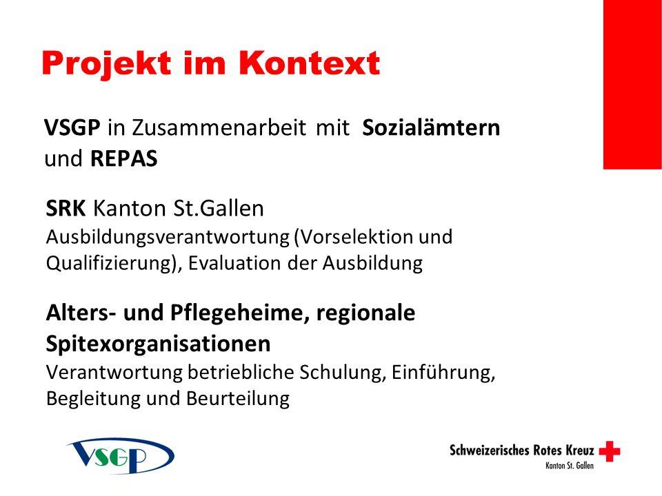 Projekt im Kontext VSGP in Zusammenarbeit mit Sozialämtern und REPAS