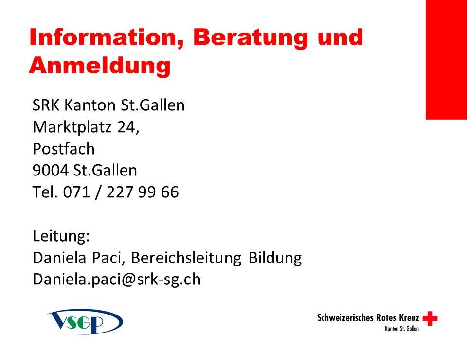 Information, Beratung und Anmeldung