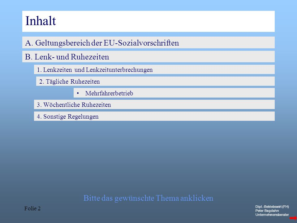 Inhalt A. Geltungsbereich der EU-Sozialvorschriften