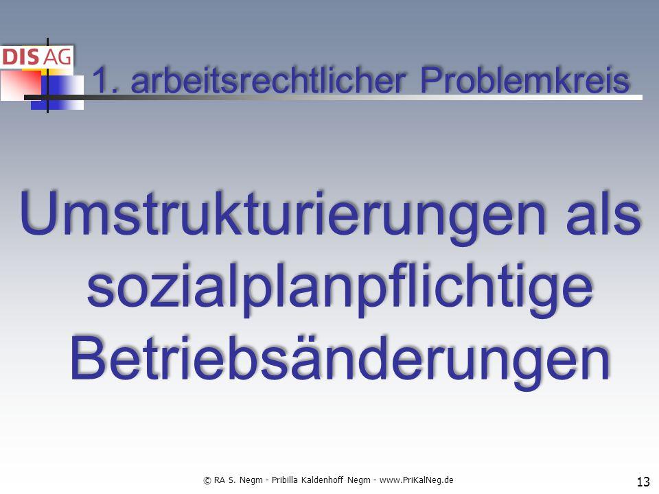 1. arbeitsrechtlicher Problemkreis