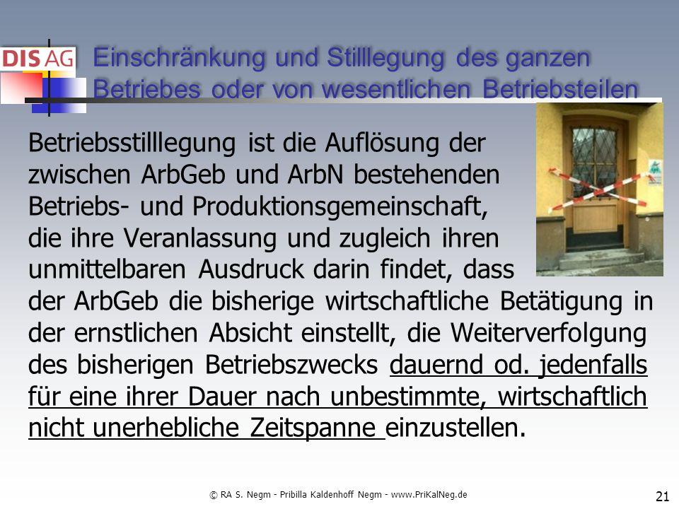 © RA S. Negm - Pribilla Kaldenhoff Negm - www.PriKalNeg.de