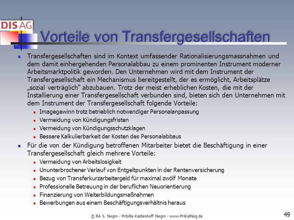 Vorteile von Transfergesellschaften