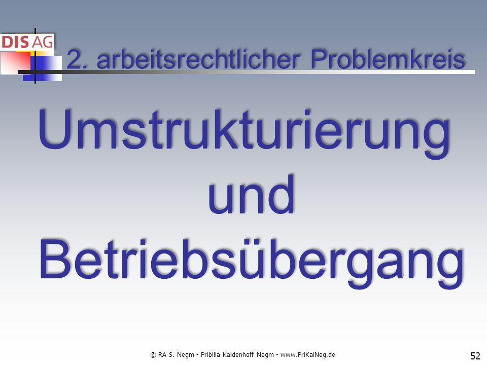 2. arbeitsrechtlicher Problemkreis