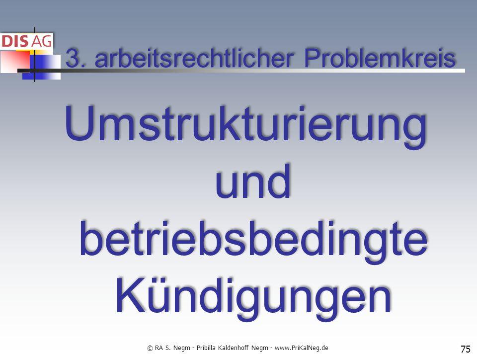 3. arbeitsrechtlicher Problemkreis