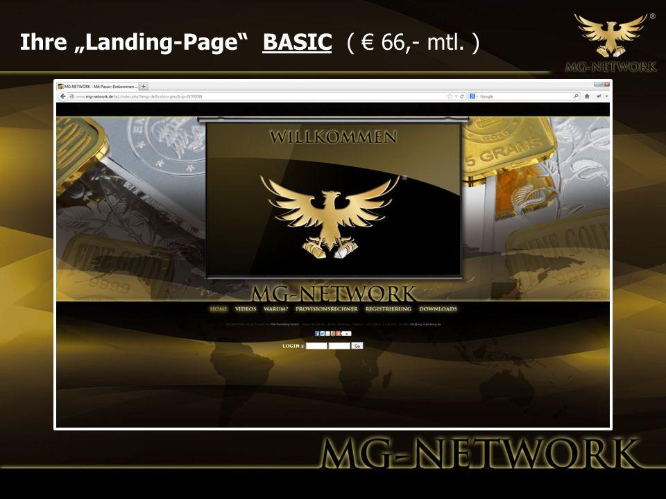 """Ihre """"Landing-Page BASIC ( € 66,- mtl. )"""