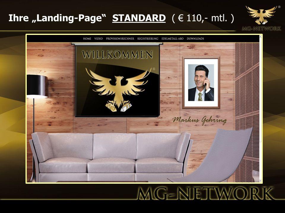 """Ihre """"Landing-Page STANDARD ( € 110,- mtl. )"""