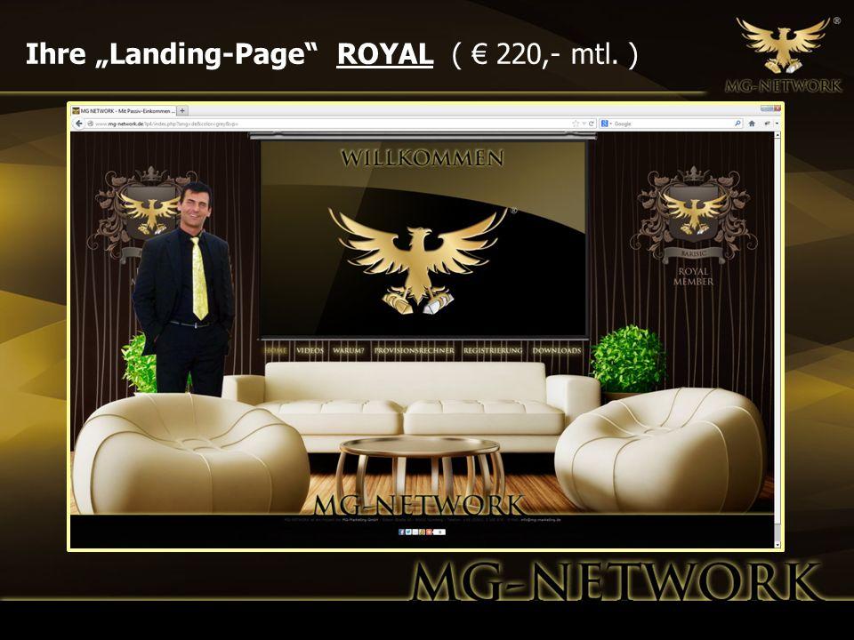 "Ihre ""Landing-Page ROYAL ( € 220,- mtl. )"