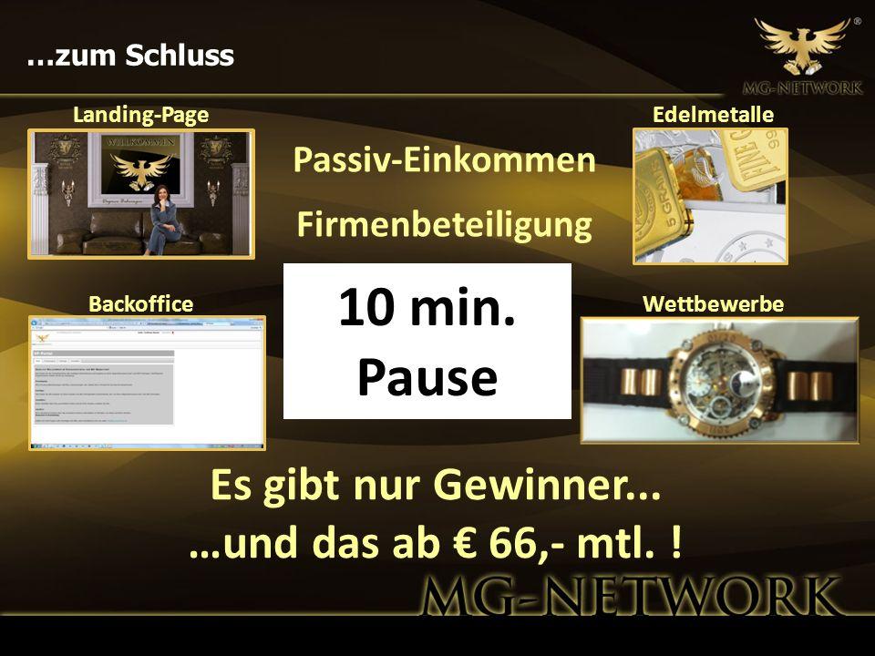 10 min. Pause Es gibt nur Gewinner... …und das ab € 66,- mtl. !