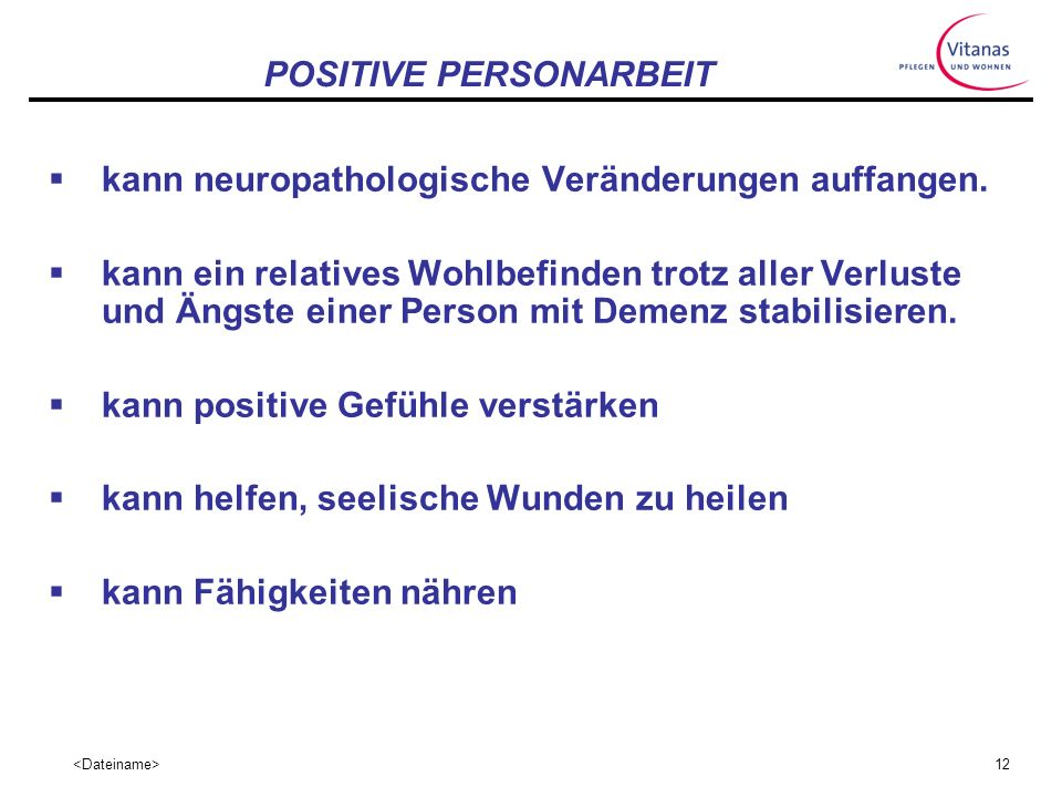 POSITIVE PERSONARBEIT