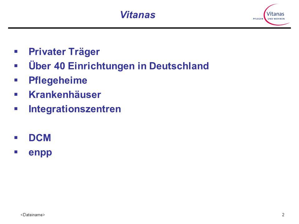Vitanas Privater Träger. Über 40 Einrichtungen in Deutschland. Pflegeheime. Krankenhäuser. Integrationszentren.