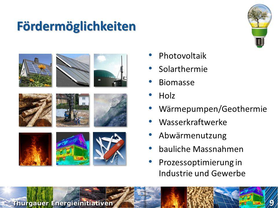 Fördermöglichkeiten Photovoltaik Solarthermie Biomasse Holz