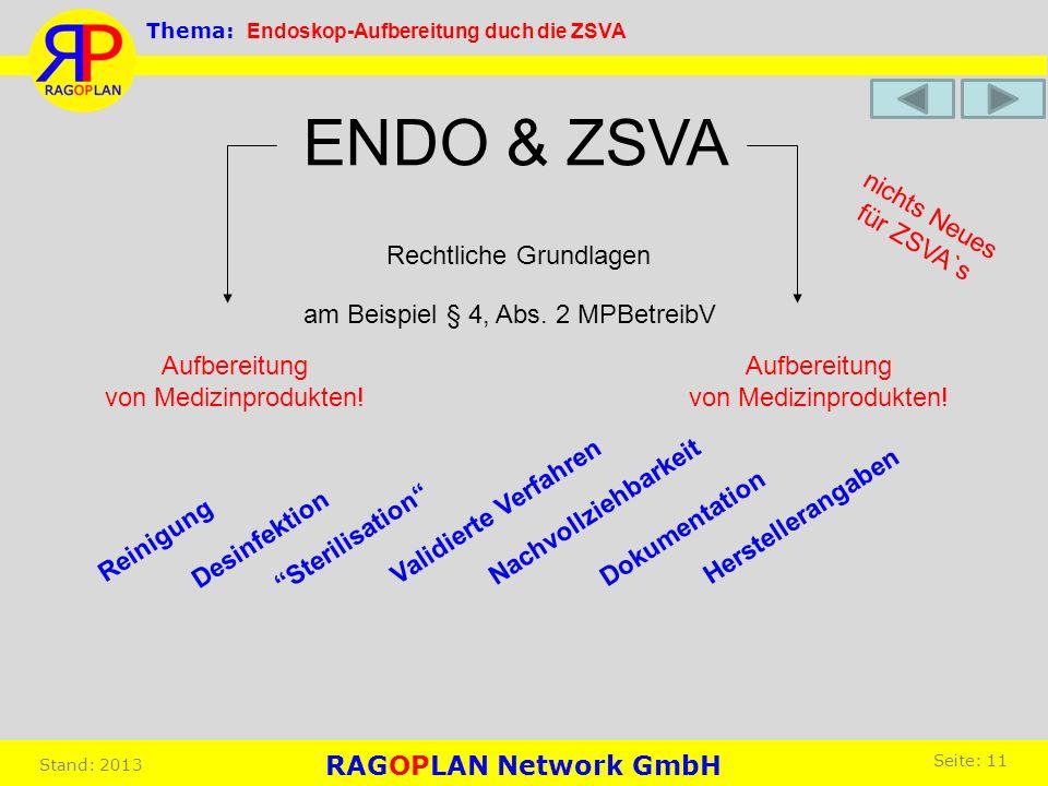 ENDO & ZSVA nichts Neues für ZSVA`s Rechtliche Grundlagen