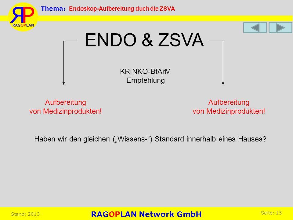 ENDO & ZSVA KRINKO-BfArM Empfehlung Aufbereitung von Medizinprodukten!