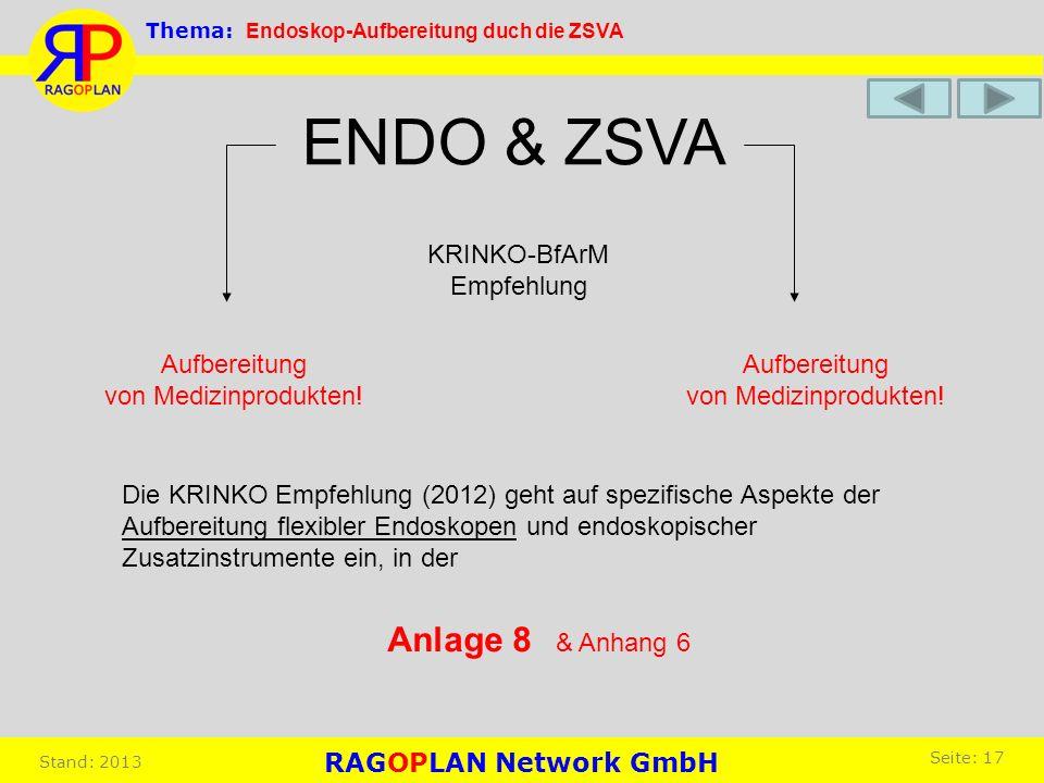 ENDO & ZSVA Anlage 8 KRINKO-BfArM Empfehlung Aufbereitung