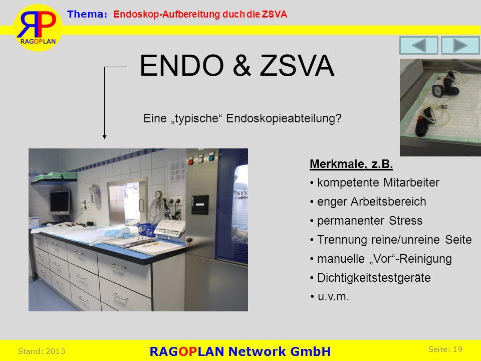 """ENDO & ZSVA Eine """"typische Endoskopieabteilung Merkmale, z.B."""