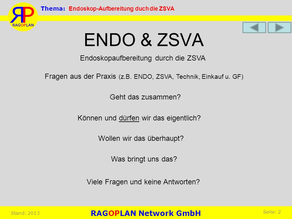 ENDO & ZSVA Endoskopaufbereitung durch die ZSVA