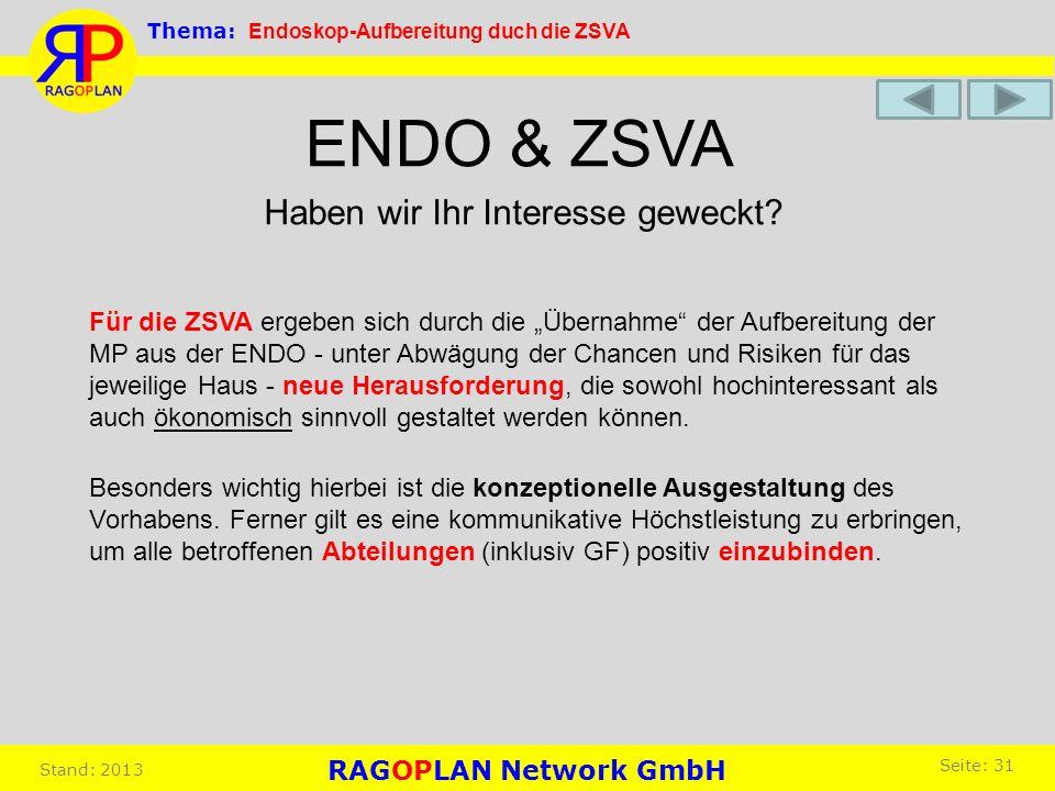 ENDO & ZSVA Haben wir Ihr Interesse geweckt
