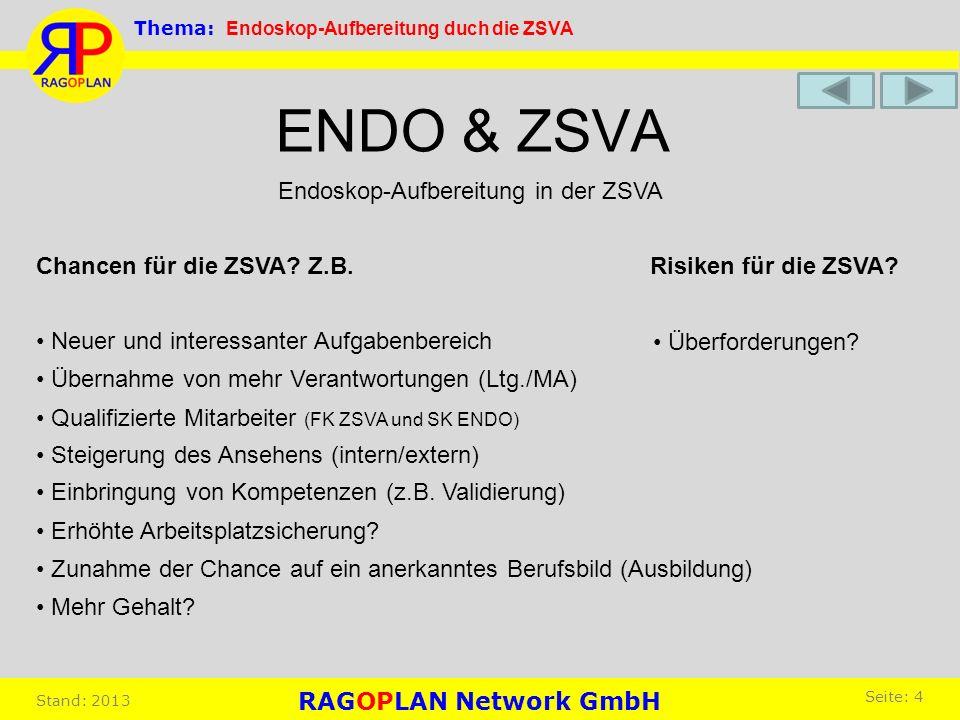 ENDO & ZSVA Endoskop-Aufbereitung in der ZSVA