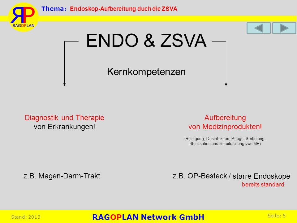 ENDO & ZSVA Kernkompetenzen Diagnostik und Therapie von Erkrankungen!