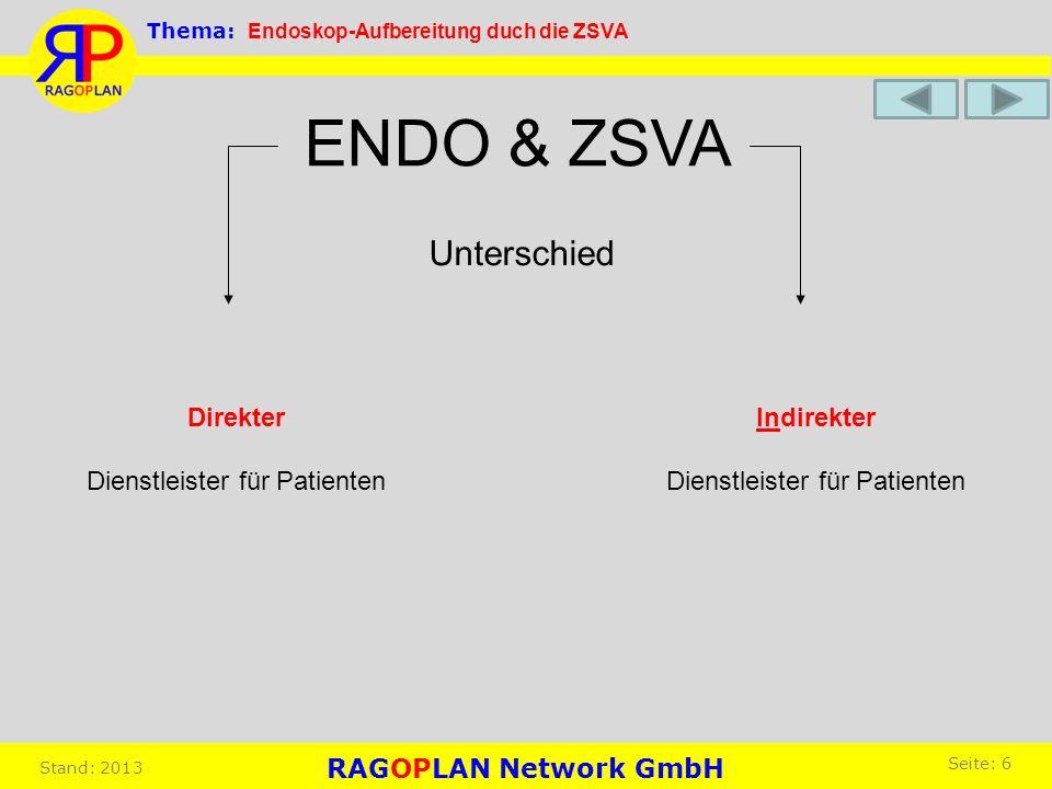 ENDO & ZSVA Unterschied Direkter Dienstleister für Patienten
