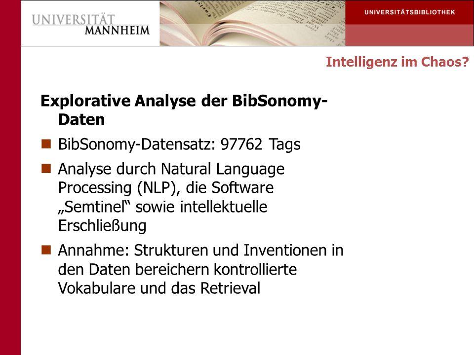 Explorative Analyse der BibSonomy-Daten