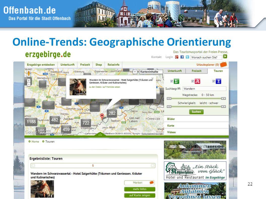 Online-Trends: Geographische Orientierung