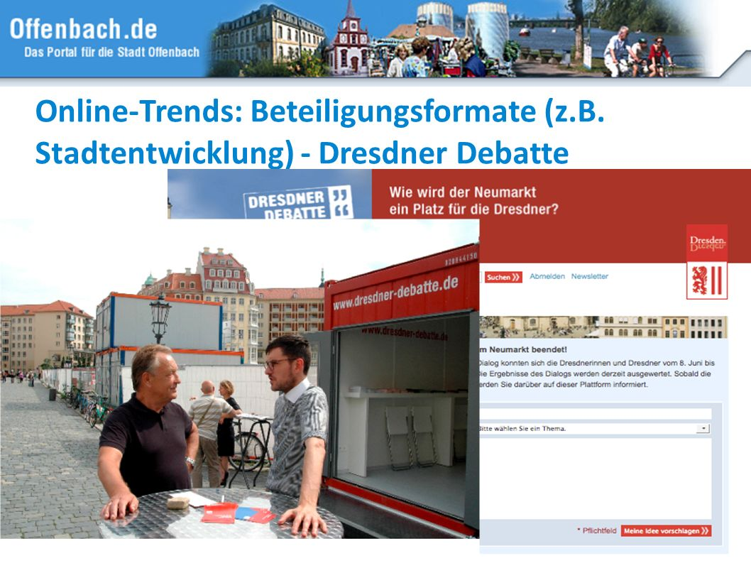 Online-Trends: Beteiligungsformate (z. B