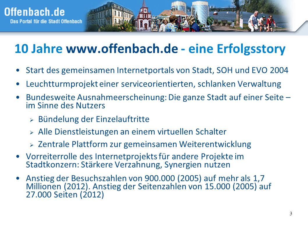 10 Jahre www.offenbach.de - eine Erfolgsstory