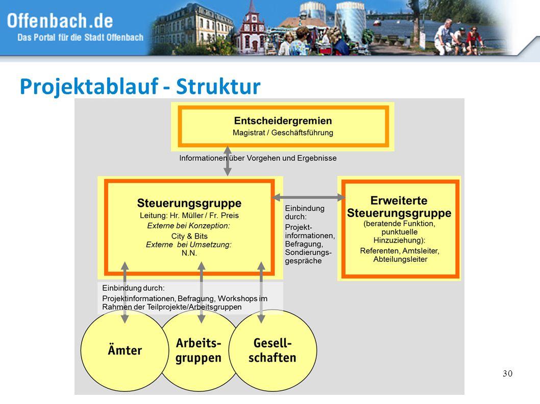 Projektablauf - Struktur
