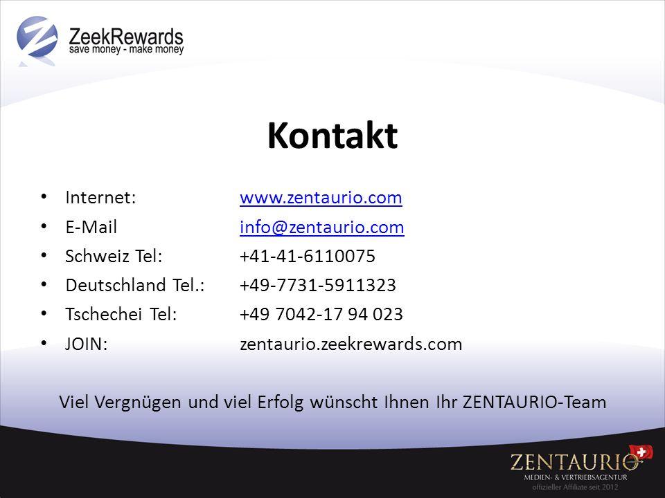Viel Vergnügen und viel Erfolg wünscht Ihnen Ihr ZENTAURIO-Team