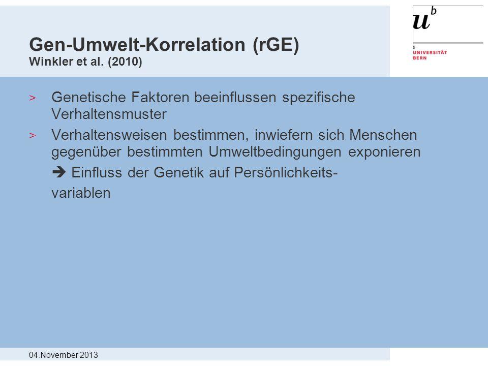Gen-Umwelt-Korrelation (rGE) Winkler et al. (2010)