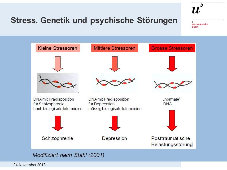Stress, Genetik und psychische Störungen