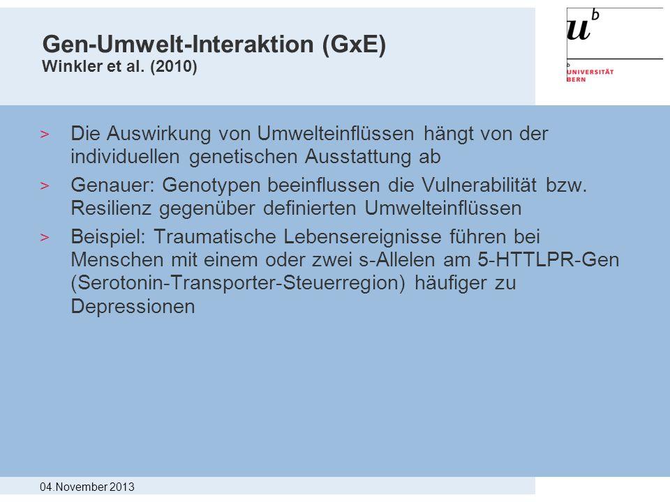 Gen-Umwelt-Interaktion (GxE) Winkler et al. (2010)