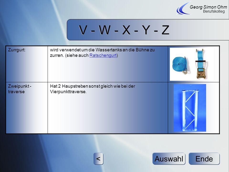V - W - X - Y - Z < Auswahl Ende Georg Simon Ohm Zurrgurt: