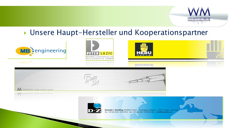 Unsere Haupt-Hersteller und Kooperationspartner