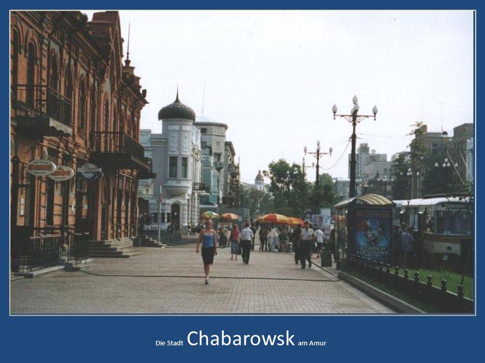 Die Stadt Chabarowsk am Amur