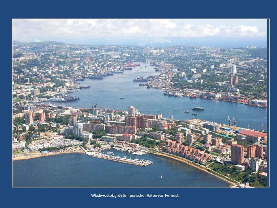 Wladiwostok größter russischer Hafen von Fernost
