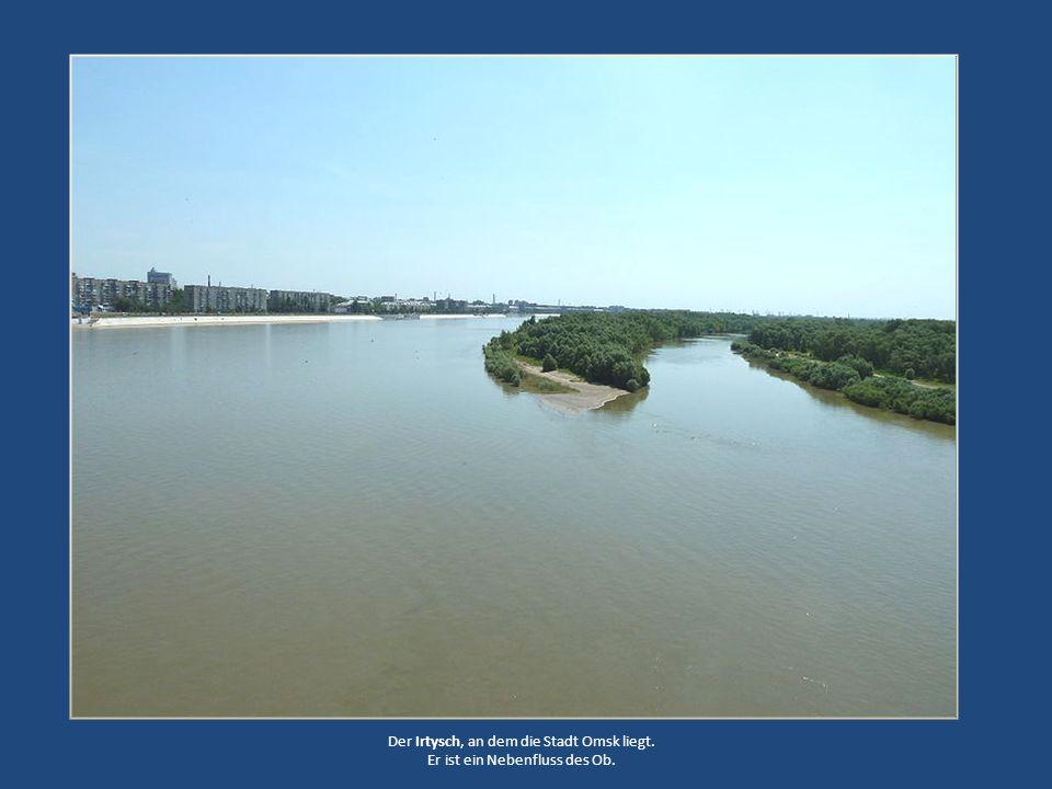 Der Irtysch, an dem die Stadt Omsk liegt.