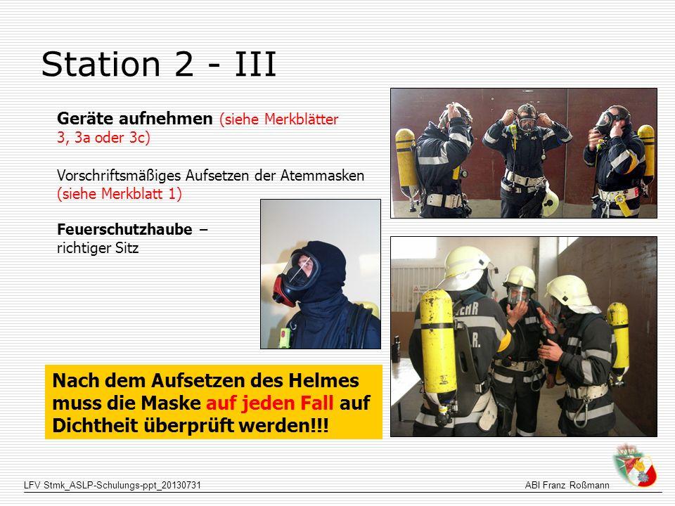 Station 2 - III Nach dem Aufsetzen des Helmes