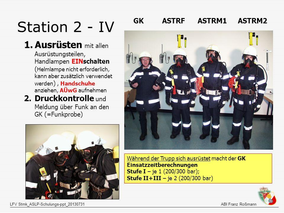 Station 2 - IV GK ASTRF ASTRM1 ASTRM2.