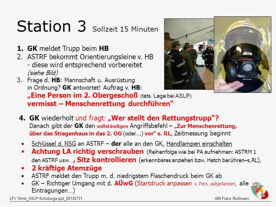 Station 3 Sollzeit 15 Minuten