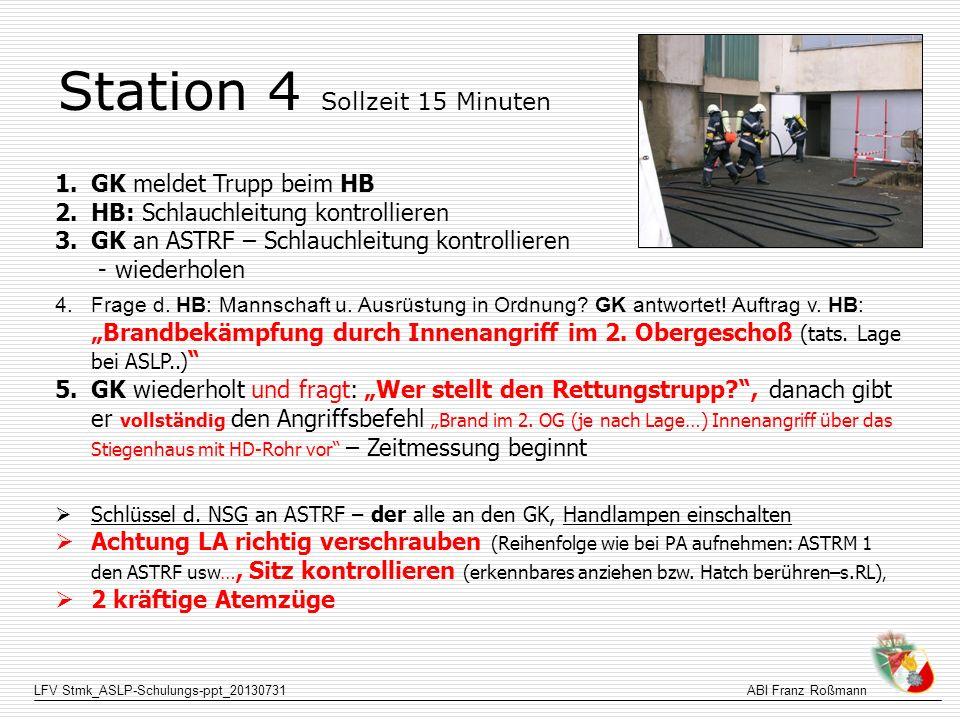 Station 4 Sollzeit 15 Minuten