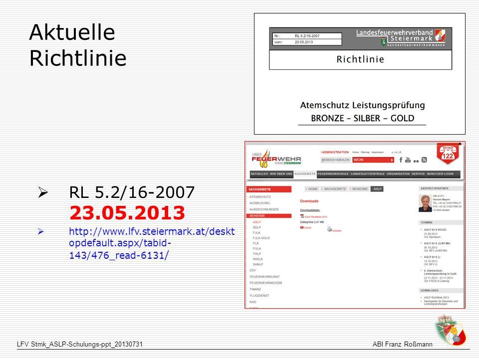 Aktuelle Richtlinie RL 5.2/16-2007 23.05.2013