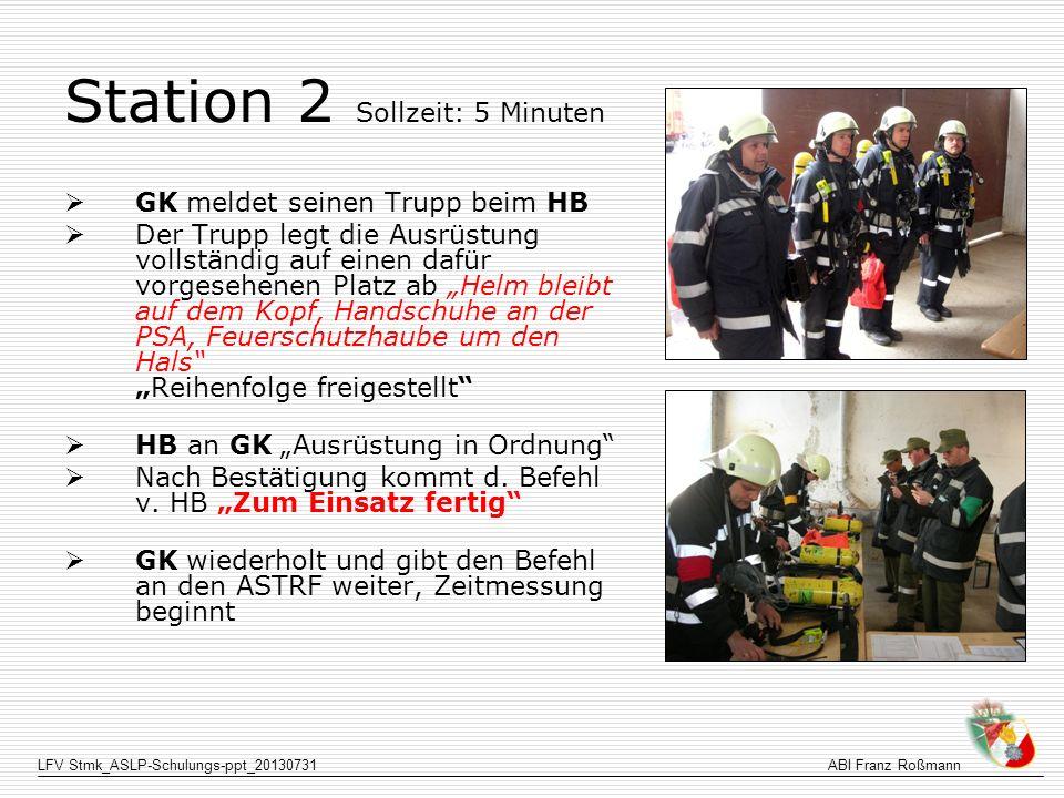 Station 2 Sollzeit: 5 Minuten